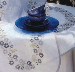 Mantel flores azules